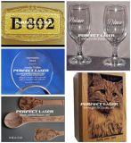 De houten Laser die van de Gravure van het Flessenglas van Jeans Machine met SGS van Ce FDA merken