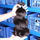 cabelo humano do Virgin ondulado brasileiro natural superior de Remy da classe 5A