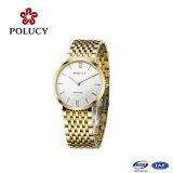 Reloj al por mayor chino de la marca de acero inoxidable simple reloj de pulsera