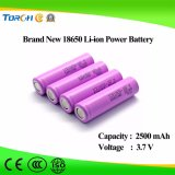 Batería del litio 18650 de la alta calidad 3.7V 2500mAh de la batería de la potencia