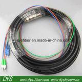 Câble de transmission de fibre optique de Sc