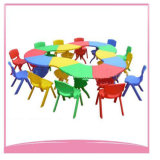 Multi Use Flower Shape Table en plastique Table de jardin avec beaucoup de couleurs