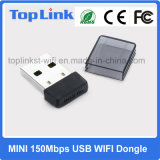 Top-7A05 adaptador de red minúsculo del USB Wireles WiFi del bajo costo 150Mbps Mtk Mt7601 mini