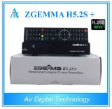 Hevc/H. 265 DVB-S2+DVB-S2/S2X/T2/C Sintonizadores H5.2s Zgemma Plus SO Linux E2 BCM73625 Receptor Combo