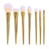 Новый комплект щетки состава 7PCS с ручкой золота пластичной