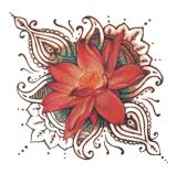 Стикер Tattoo искусствоа стикера Tattoo красивейшего лотоса временно