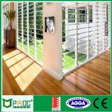 Finestra di vetro di alluminio della feritoia di prezzi poco costosi standard australiani