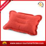 Almohada inflable con el Rojo $ el logotipo del cliente.