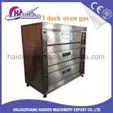Elektrisch 3 Dek 6 de Oven van Dienbladen met het HandControlebord van de Knoop