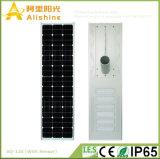 120W de Batterij van het lithium allen in Één Geïntegreerde LEIDENE ZonneStraatlantaarn met Sensor PIR