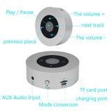 Round minicaixa acústica portátil sem fio Bluetooth com TF Card