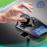 Adaptador sin manos del receptor del jugador de música del MP3 del transmisor del kit FM del coche de Bluetooth del coche sin hilos T10 para los teléfonos elegantes