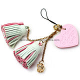 Promotional Bags Keys decoração Colorful Fancy Charm Leather Tassel Keychain