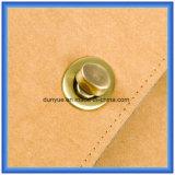 De fabriek maakt tot het Speciale Waterdichte en Document van Tearproof Kraftpapier de Toevallige Zak van de Rugzak, Laptop van het Document van Kraftpapier van de Gift van de Bevordering Rugzak met Regelbare Nylon Riem