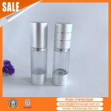 Bottiglia senz'aria di plastica della pompa del siero del cilindro di lusso