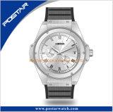 Nieuw kom OEM van de Luxe het Horloge van de Beweging van het Kwarts van Japan van de Mensen van het Staal van het Horloge aan