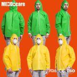 Рр SMS СИЗ не тканого колпачковая куртка одноразовые костюм лаборатории Lab нанесите на