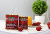 Doppeltes starkes Tomatenkonzentrat im Zinn, Quetschkissen, Glasglas, das 70 G bis 4.5 Kilogramm verpackt