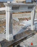 Cinzeladura De Mármore Branco Móveis De Lareira Interior Parede Antiga De Pedra Natural