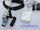 재충전용 의학 LED 맨 위 가벼운 램프 돋보기