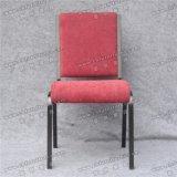 Удобная красная ткань крышки Yc-G71-1 штабелируя стулы церков металла