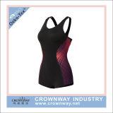 Costume da bagno su ordinazione all'ingrosso del poliestere dello Swimwear delle ragazze con stampa di sublimazione