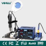Station de pistolet pneumatique chaud de Yihua 862D+ et de fer à souder avec la bride en métal de lampe de Multifuctional Manifying pour le pistolet pneumatique chaud