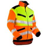反射労働者のジャケットに警告する構築安全