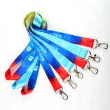 Bon prix Dye sublimé logo personnalisé en polyester longe de sécurité pour l'ID d'un insigne