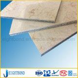 Panel de nido de abeja de aluminio de mármol para revestimiento de material de construcción