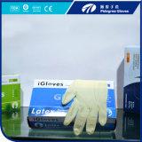 Bianco a gettare di Micky dei guanti del lattice della Malesia di prezzi poco costosi