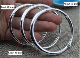 S990 둥근 아랫배 은 팔찌 매끄러운 강요 및 풀