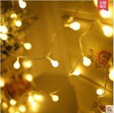 100 [لد] أضواء, كرة [كريستمس ليغت], داخليّة/ضوء خارجيّة زخرفيّة, [أوسب] يزوّد, [وهيت ليغت] دافئ - لأنّ فناء [غردن برتي] [إكسمس] شجرة [كريستمس ليغت]