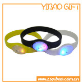 Custom Fashion Jewelry LED White Light Soft Fluorescence Slicone Wrisband (YB-HD-01)