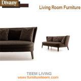 銅のステンレス鋼の管のArmrestの椅子、革靴の革居間の椅子