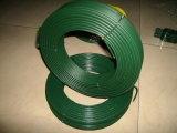 O fio revestido do PVC, PVC revestiu o fio do ferro, fio revestido PVC do laço