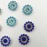 2017 nuevo y calentar los cristales flojos de 9m m Swaro que la configuración de la garra de la flor cose en los granos de cristal (zafiro de TP-9mm redondo)