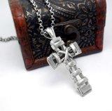 Acero pendiente de Tianium de los complementos de las mujeres de Men& del collar cruzado
