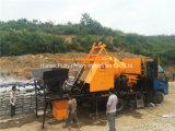 Camión móvil montado en la bomba de mezcla de cemento con el generador de 100 kW