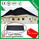 Tuile de toit galvanisée enduite en pierre en métal d'aperçu gratuit