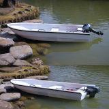 Fibra de vidro de Hongjun que pesca o iate inflável do barco com motor externo