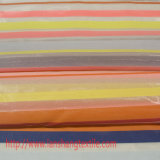 Tela química o jacquard tingido da tela do poliéster do fio listra a tela para o vestido cheio do vestuário, cortina