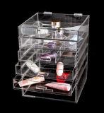 Organizador de lujo del maquillaje del claro de la maneta del diamante