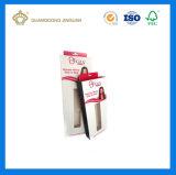 Rectángulo de empaquetado impreso plegable barato de la extensión del pelo con la ventana del PVC (con el orificio colgante cortado con tintas)