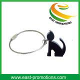 Anello chiave del cane del metallo sveglio di disegno