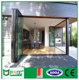 Puerta de aluminio satinada de Bifolding de la seguridad con estándar australiano