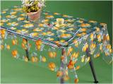 Colorido mantel transparente de PVC impreso con diseño de frutas para el hogar / partido / al aire libre