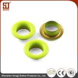 OEMの安定したカラーおもちゃのための円形の金属アイレットスナップボタン