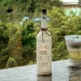 Botella artificial modificada para requisitos particulares de la luz de la botella de vino del diseño del hogar de la boda de la belleza