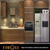 Polijst MDF de Houten Keukenkast van het Vernisje voor Moderne Flat